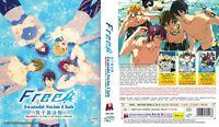 ANIME DVD ENGLISH DUBBED Free!Iwatobi Swim Club Season 1-3+Movie~FREE SHIP+GIFT