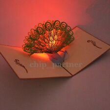3D LED Pop Up Greeting Card With Music Party Birthday Gift Postcard W Envelope