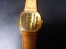 WATCH MONTRE KODY Paris lady plaque or vintage gold plated new old stock leather