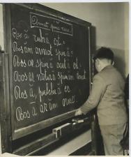 Italia, Scuolari di Dolo parlano in latina. Paolo Carlamare  Vintage silver prin