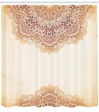 Vintage Ornate Pattern Henna Style Mandala Art Work Print Shower Curtain Set