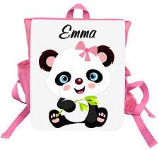 Kinder Rucksack Panda mit Name Kindergartentasche Kindergartenrucksack Tasche