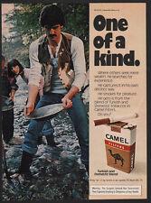 1977 CAMEL Filters Cigarettes - Camel Man Panning for Gold - VINTAGE AD