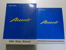 2005 HYUNDAI ACCENT Service Shop Repair Manual 2 VOLUME SET W EWD FACTORY NEW