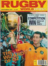 RUGBY WORLD MAGAZINE SEPTEMBER 1991 NAMIBIA v IRELAND, FIJI v ENGLAND