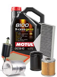 Kit Tagliando 4 Filtri + 5 LT Olio Motul 8100 5W40 VOLKSWAGEN POLO 2001>2010