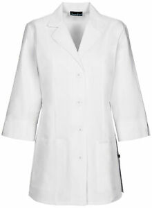 "Cherokee 1470A Women's 30"" 3/4 Sleeve Lab Coat Medical Uniforms Scrubs"