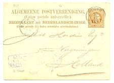 DUTCH INDIES-1887-NED INDIE VIA BRINDISI BRITSCHE PAKKETB: (R58) KR---------
