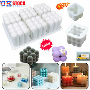 DIY Candles Mould Soy Wax Candle Making Mold Candle 3D Silicone Bubble Moulds UK