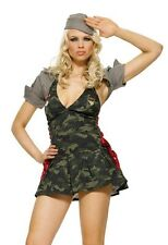Sexy Army Cadet Costume, Leg Avenue, 6-14, General, Military, Camoflague,