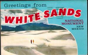 1964 White Sands National Monument Souvenir Folder Dunes Cactus Desert Flowers