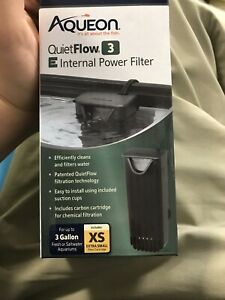 Aqueon QuietFlow 3 E Internal Power Filter 3gal XS