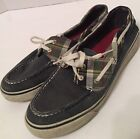 Sperry Top-Sider 9773862 Women's Blue Plaid Canvas 2-Eye Moc Toe Boat Shoes 7. 5