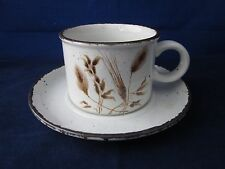 WEDGWOOD MIDWINTER Stonehenge Wild Oats Cup & Saucer Set ~ EXCELLENT