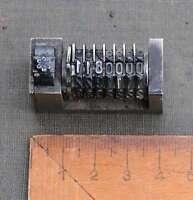 Numerierwerk Bleisatz Druckerei Buchdruck Druck Nummerierwerk Zählwerk Counter