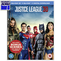 JUSTICE LEAGUE Blu-ray 3D + 2D (REGION-FREE)