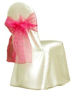 Ivory Satin Wedding decoration Banquet Round/Square Top Chair Cover....FREE SHIP