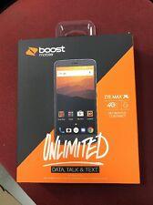 ZTE MAX XL - 16GB - Black Boost Mobile Smartphone 3 Months Free Service $50 Plan