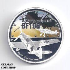 Tuvalu 1 Dollar $ 2008 Messerschmitt BF109 Silver proof - Silber PP Flugzeug