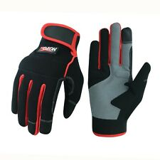 5 x EETools Size 10//XL Grip-Lite Work Grip Glove Hand Latex Palm Red//Black