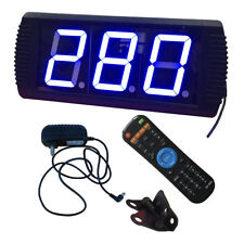 """4"""" Giant Large LED Countdown/up Timer Remote Control Blue Characters"""