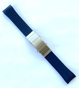 Original MIDO Ocean Star M026430A BLUE Rubber Watch Band Strap Titanium Buckle