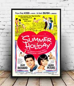 Summer Holiday : Vintage Cliff Richard movie poster reproduction.