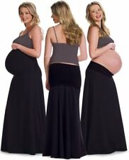 New Ingrid & Isabel Maternity Casual Maxi Black Skirt Size:0