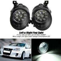 2X 9 LED Car Foglight Fog Light Lamp White For VW GOLF GTI MK5 2005-2009