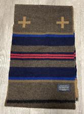 New Pendleton USA Made Brown 100% Virgin Wool Scarf No Tag