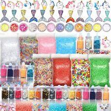 Set of 70 Slime Making Kit Supplies for Girls Glitter Toys Unicorn Mermaid Jars