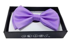 Lavender Purple Men Women Bowtie Classic Clip-On Neck-wear Tuxedo Adjustable
