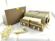 Vintage Sawyer's 500 Er Slide Projector w/ Remote Cords Case Usa Tested Works