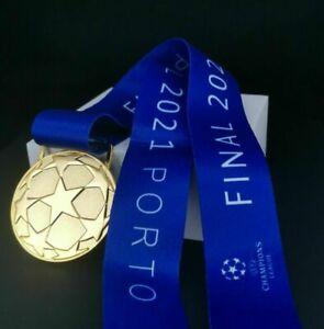Chelsea 2021 Champions League Winners Replica Medal Fan Gift with Ribbon