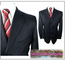 """Hugo James  Mens suit Jacket only chest 40""""S Navy Self colour stripe Wool mix"""