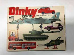 VINTAGE BRAND NEW 1974 DINKY DIECAST MODEL CATALOGUE NO 10