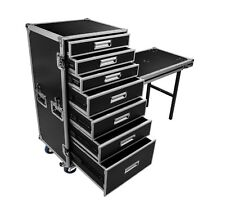 "7 DRAWER UTILITY ATA ROAD CASE WORK BOX - 4"" CASTER WHEELS 