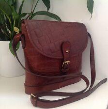 Vintage Mulberry Brown Nile Leather Binocular Shoulder/Cross Body Bag VGC