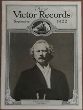 Victor Records Catalogue September 1922 ~  Pianist Ignace Paderewski On Cover