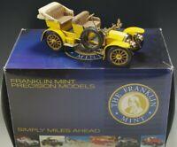 FRANKLIN MINT 1904 MERCEDES SIMPLEX MODEL CAR RARE YELLOW 1:24 SCALE DIE CAST NM