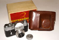 ZENIT-3 ZENIT 3 Soviet USSR 35mm Camera Industar-50 3,5/50 mm lens Case and box