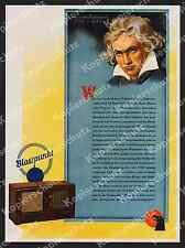 Orig. Advertising Blaupunkt Radio Radio Music Hi-Fi CLASSICAL BEETHOVEN Berlin 1944