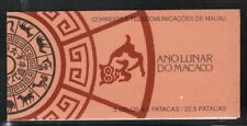 Macao 1992 Year of the Monkey booklet Sc# 662a NH