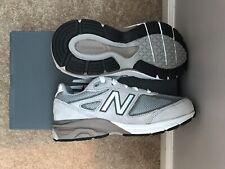 New Balance 990V4 KJ990V4 Running Shoe Kids Grey/Grey Sz. 2 Kh990glp