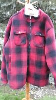 CABELA'S NWOT MEN'S XXL TALL 2X HEAVY RUGGED RED PLAID FLANNEL HUNTING JACKET