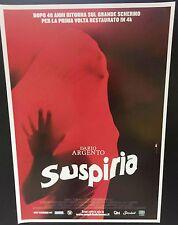Suspiria Dario Argento (ediz. restaurata 2017) Poster cm 70x100 tiratura limit.