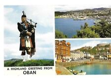 """VINTAGE POSTCARD: """"A HIGHLAND GREETING FROM OBAN""""  ~ Pulpit hill / The harbour"""