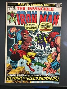 INVINCIBLE IRON MAN # 55 - FIRST APPEARANCE OF THANOS & DESTROYER! NICE!