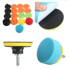 19x 3 inch Sponge Polishing Pads Kit Buffing Pads 10mm Adapter for Car Polisher