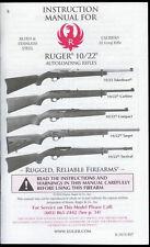 2014 Sturm/Ruger Model 10/22 Auto Loader Rifle Owner's Instruction Manual